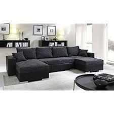 canapé d angle simili cuir convertible canapé d angle convertible panoramique 5 à 6 places enno tissu et