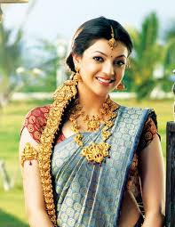 kajal agarwal in temple jewellery jewellery designs