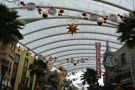 christmas decorations picture of universal studios singapore