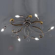 Wohnzimmer Lampe 6 Flammig Rostfarbige Deckenleuchte Garra 6 Flammig Kaufen Lampenwelt De