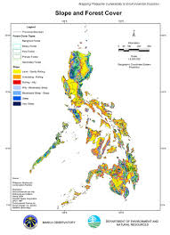 Luzon Map Slope Forest Cover Jpg