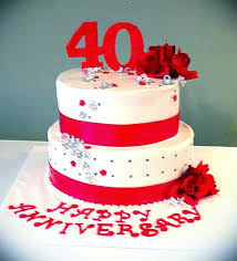 40th wedding anniversary ideas 40th wedding anniversary cake decorating ideas best ideas about