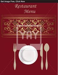 menu card templates hotel menu template