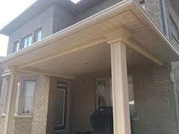 aluminum soffit porch overhang project in toronto ontario