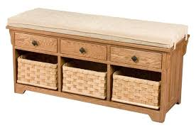 Small Storage Bench With Baskets Bench Amazing Small Hall Storage With Baskets And Drawers For Oak