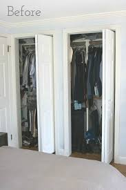 Folding Doors For Closets Replacing Bi Fold Closet Doors With Curtains Our Closet Makeover