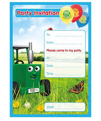 tractor ted invitations