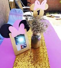 minnie mouse picture frames minnie pink and gold centerpieces