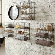 Metal Wire Storage Shelves Towel Shelves In The Bathroom U2013 From Messy To Stylish Homesfeed