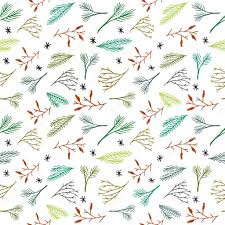botanical wrapping paper seamless christmas pattern tile vector background botanical