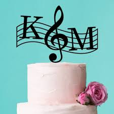customized wedding cake toppers musical theme personalized cake topper personalized wedding cake