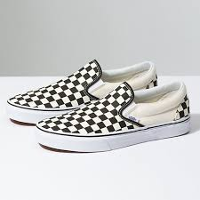 Jual Vans White checkerboard slip on shop shoes at vans