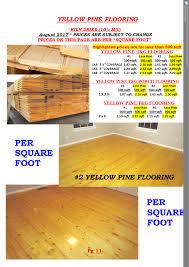 cline lumber u003e u003eyellow pine flooring