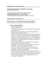 sterile processing technician resume example ideas collection