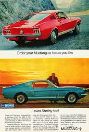 ford mustang ad 1967 ford mustang shelby gt500 ad cars today