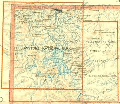 Yellowstone Map Usa by Yellowstone Park Arnold Hague And The Birth Of National Forests