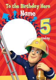 fireman sam birthday hero card funky pigeon