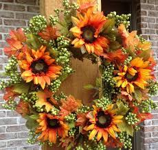 Sunflower Mesh Wreath Simple But Attractive Sunflower Wreaths Home Design By John