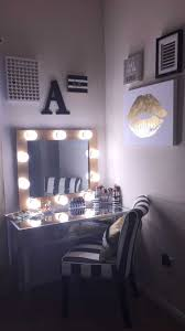 Diy Bedroom Lighting Ideas Vanity Table With Lighted Mirror Diy Gallery And Makeup Vanities