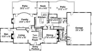 Two Floor House Plans by Home Design 653916 Two Story 5 Bedroom 45 Bath Traditional Style