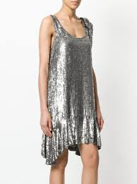 embellished dress p a r o s h sequin embellished dress farfetch
