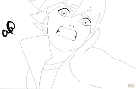 boruto coloring page free printable coloring pages