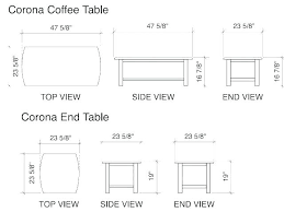 standard coffee table dimensions standard height of side table subliminally info