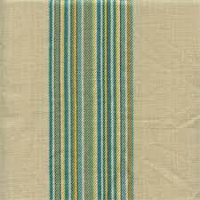 Stripe Drapery Fabric Saint Germain Turquoise Blue Green Striped Linen Blend Drapery