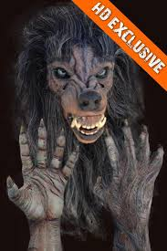 werewolf halloween mask and hands the horror dome