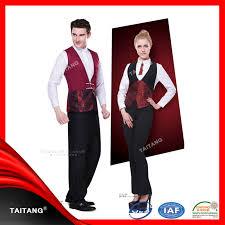 100 cotton polyester hotel staff uniform restaurant service staff