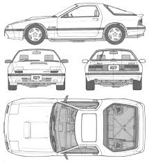 nissan skyline drawing outline car mazda savanne rx 7 the photo thumbnail image of figure