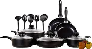 Non Stick Pan For Induction Cooktop Imperial Home 15 Piece Induction Non Stick Cookware Set U0026 Reviews