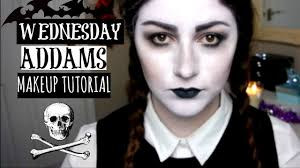 wednesday addams halloween costume wednesday addams halloween makeup tutorial 2015 love nadia youtube