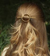 barrette hair hammered circle hair barrette stick women s accessories