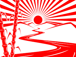 looking at various takes on the rising sun silhouettes as
