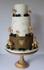 woodland wedding gold happyhills cakes beautiful edibles