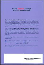 Anatomy And Physiology Games And Puzzles Crossword Easy French Crossword Puzzles 062120 Details Rainbow Resource