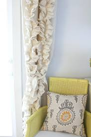 Smocked Burlap Curtains Image Of Burlap Curtain Panel Burlap Curtain Panels 95 Smocked