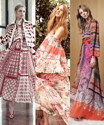 bohemian fashion cruise 2017 trend bohemian dresses vogue