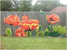Backyard Fence Decorating Ideas Best Mural Diy Backyard Fence Decorating Ideas Room Design