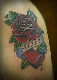 one for mum rose u0026 heart memorial tattoo this came from u2026 flickr