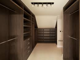 Bespoke Fitted Bedroom Furniture Loft Modern Walk In Wardrobe Dark Elm Bespoke Furniture Fitted