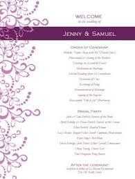 One Page Wedding Program 13 Best Photos Of Free Printable Wedding Bulletins Templates