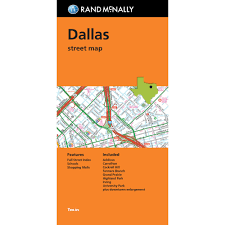 Dallas Map by Folded Map Dallas Street Map
