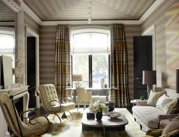 Elegant Living Room Curtains Stripped Curtains Living Room Carameloffers