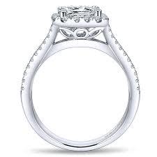 princess cut gold engagement rings 14k white gold princess cut halo with pave split shank 14k