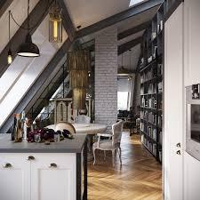 urban loft plans dark color for small apartment interior design with exposed brick