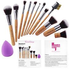 How To Shape Eyebrows With Concealer Amazon Com Emax Design Makeup Brush Set 12 Pieces Professional