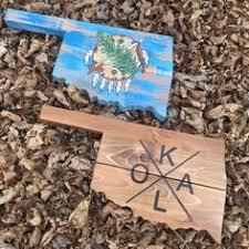 oklahoma wood oklahoma firefighter sign maltese cross oklahoma flag wood