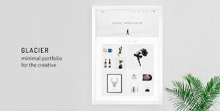 glacier minimal wordpress portfolio theme free download